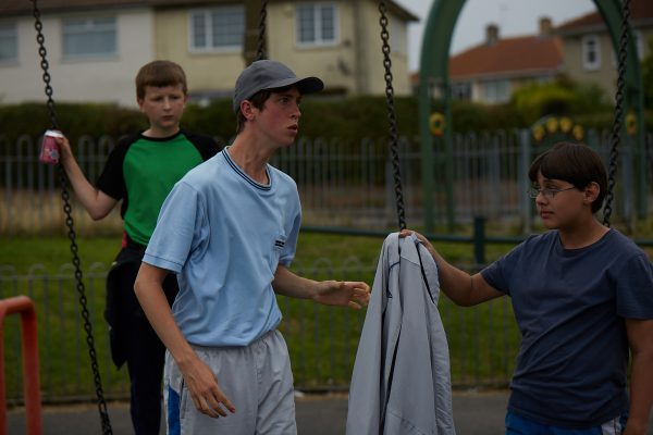 Angus Imrie, Gianlucca Galluci and Ethan Wilkie in POND LIFE (swings)