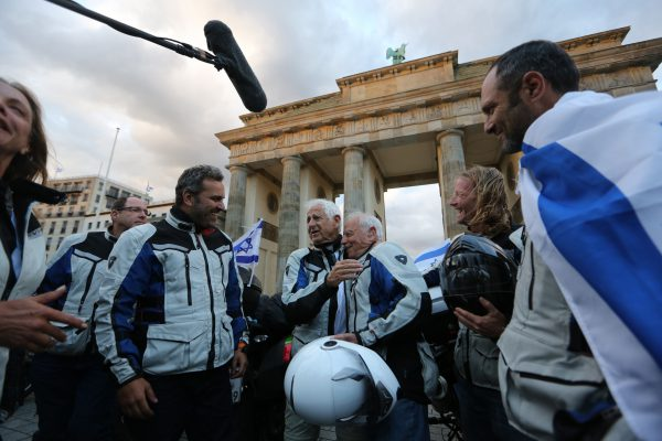 Riders at Brandenburg Gate