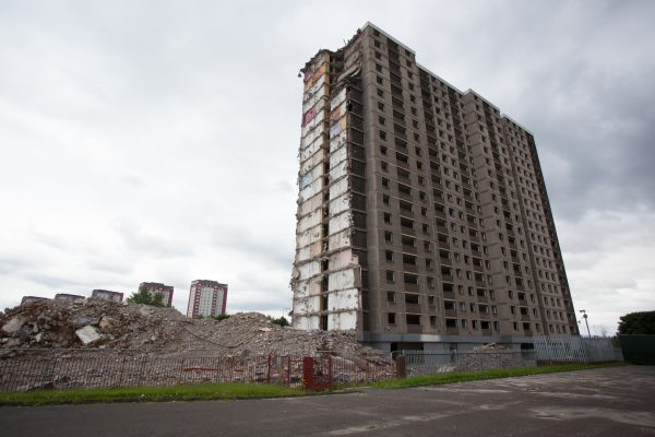 Dispossession still - Glasgow demolition Rob Clayton