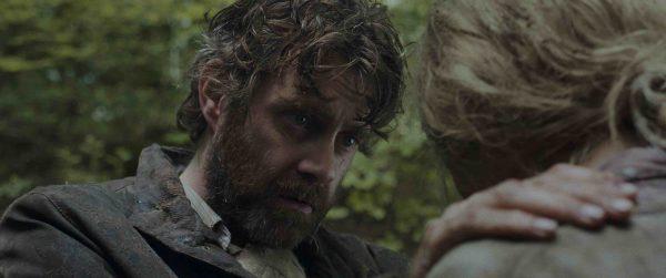 John (Paul Higgins) comforts Karen (Kate Dickie)