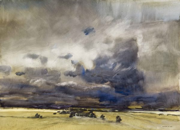3. Storm over the Grampians, 2015, oil on board, © James Morrison _ Eye of the Storm (1)